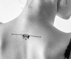girl, tatto, and mujer image
