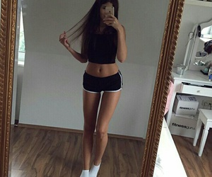 girl, fitness, and goals image