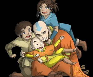 aang, kya, and avatar the last airbender image