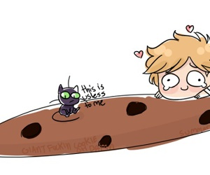 cookie, miraculous ladybug, and adrien agreste image