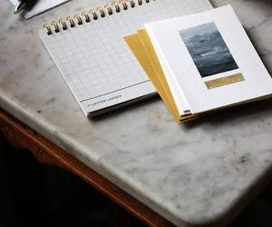 notebook, photos, and notes image