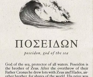 poseidon, mythology, and aesthetic image