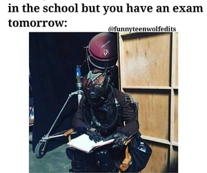 teen wolf, exam, and funny image