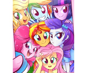 best friends, apple jack, and rainbow dash image