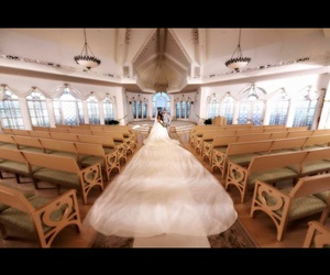 beautiful, bride, and chapel image