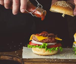 burger, food, and hamburger image