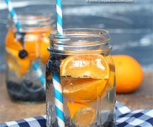 drink, orange, and blueberry image