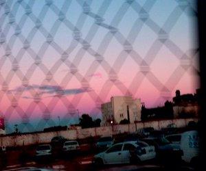 sunset, city, and grunge image