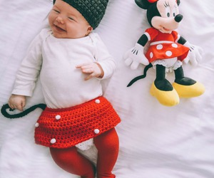 baby, girl, and minnie image
