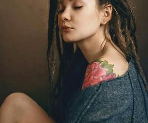 Chica, tattoo, and dreadlocks image