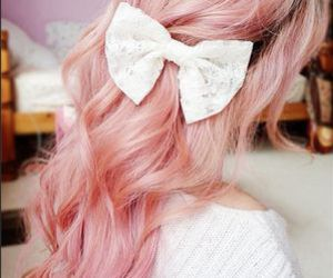 pink, hair, and bow image