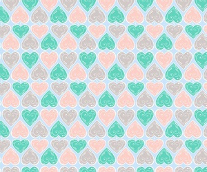 pattern and hearts image