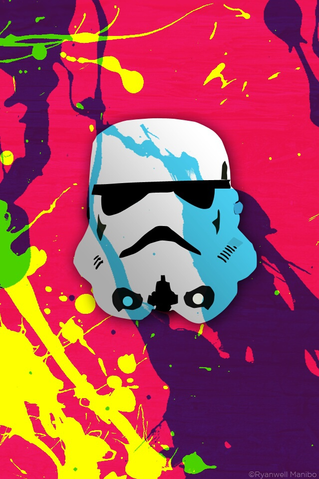 Stormtrooper Colorful Art Wallpaper