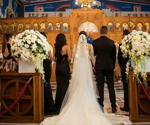 beautiful, bride and groom, and ceremony image