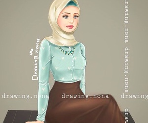 draw, hijab, and تّحَشَيّشَ image