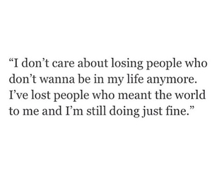 fine, lonely, and losing people image