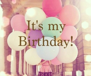 birthday, happy, and balloons image