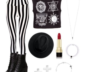 black, boots, and hat image