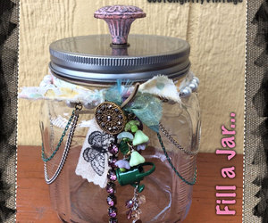 etsy, glass jar, and home decorating image