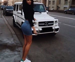 girl, car, and outfit image