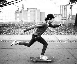 boy, skater, and black and white image