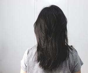black, hair, and haircut image