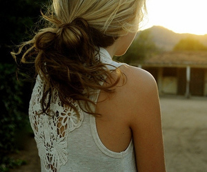 back, white, and girl image