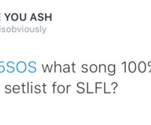 set list, twitter, and 5sos image