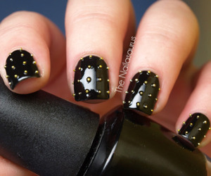 nails, black, and rock image