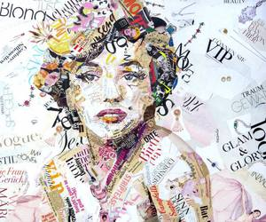Collage and marilyn image