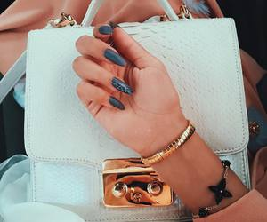 nails, outfit, and watch image