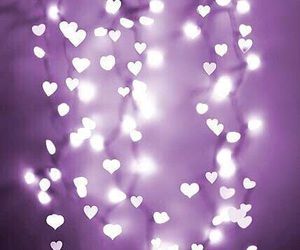 light, purple, and heart image