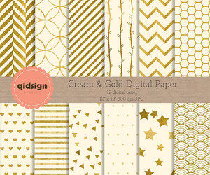 etsy, gold dots, and gold stripes image