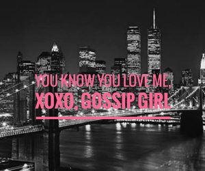 gossip girl and black and white image