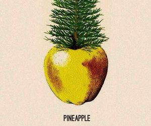 pineapple, apple, and fruit image