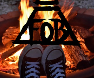 converse, fall out boy, and fire image