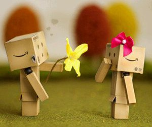 love, flowers, and danbo image