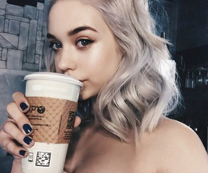 aesthetic, coffee, and hairstyles image