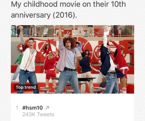 childhood and high school musical image