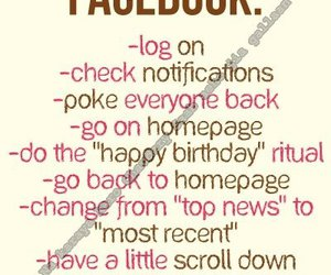 facebook, funny, and text image