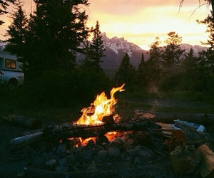 fire, nature, and adventure image