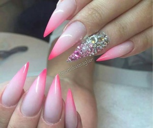 nail art, stilettonails, and nails image