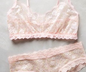 lingerie, pink, and cute image