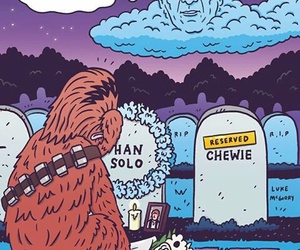 han solo, chewbacca, and chewie image