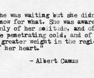 quote, waiting, and albert camus image