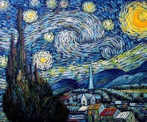 van gough and star sky image
