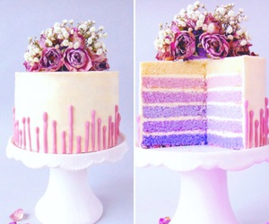 cake, dessert, and floral image