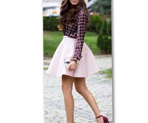 fashion, lady, and skirt image