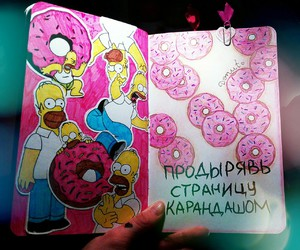 donut, food, and pink image