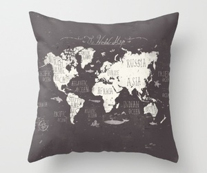 globe, couch pillows, and sofa pillows image